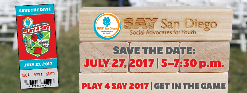 Save the Date | Play 4 SAY 2017